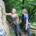 Sport Lead climber Emily goes trad